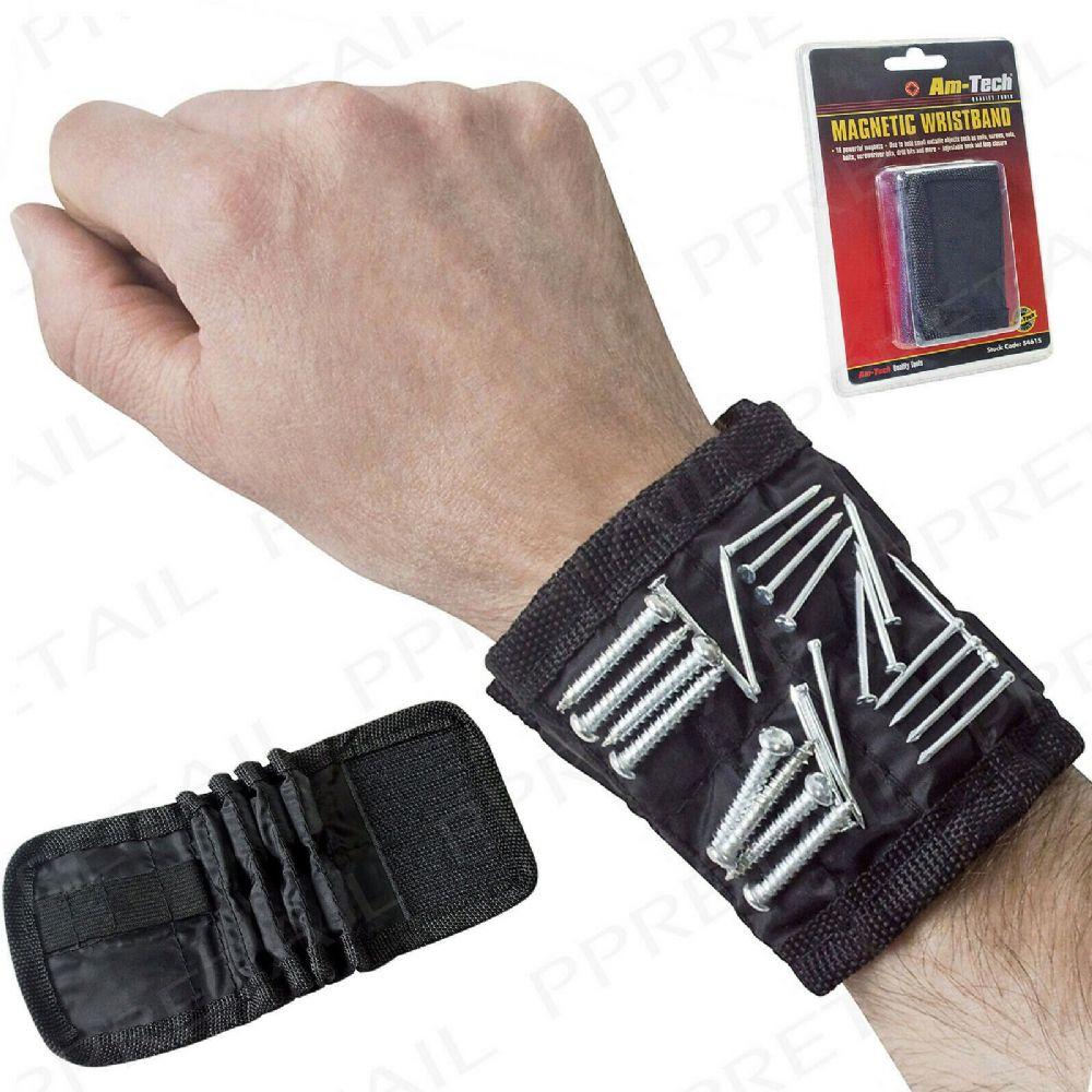 MAGNETIC TOOL WRISTBAND HOLDER CARRY STRAP Pouch/Pocket/Belt/Nails/Screw/Bits 26